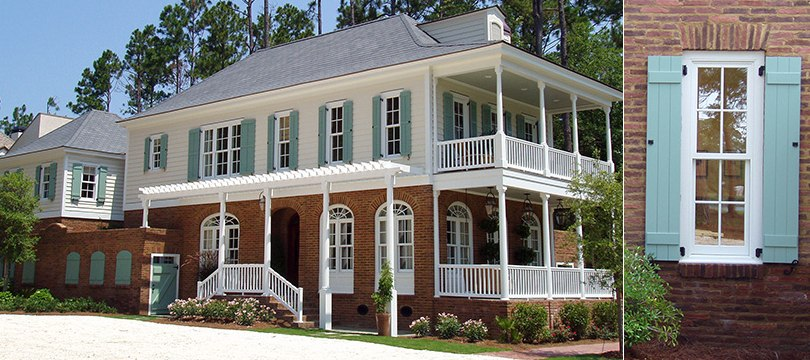 Exterior Synthetic Bahama and Colonial shutters